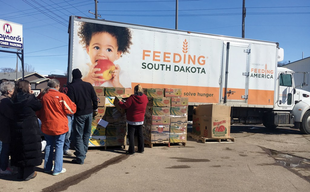 Food giveaway helps families with hunger